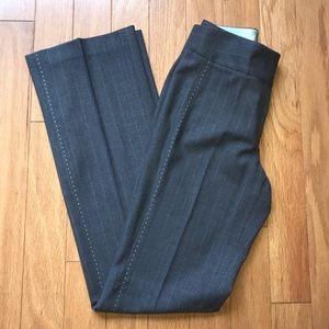 Elie Tahari Gray Pinstripe Dress Work Pants